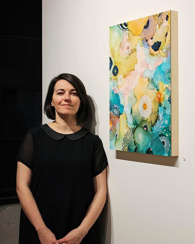 Yellena James | @yellenajames at the opening of #Arise Exhibit's on view through March 31 at Stephanie Chefas Projects. Be sure to visit us this month and experience the artwork in person. You can also view the show online, link in profile.