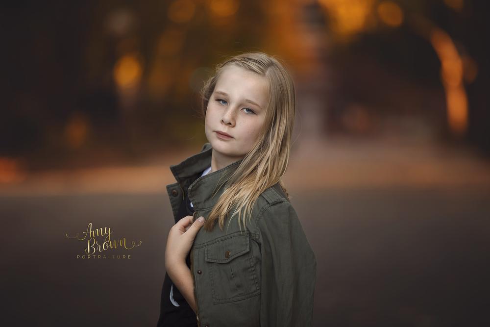 fall color child portrait red bluff, ca