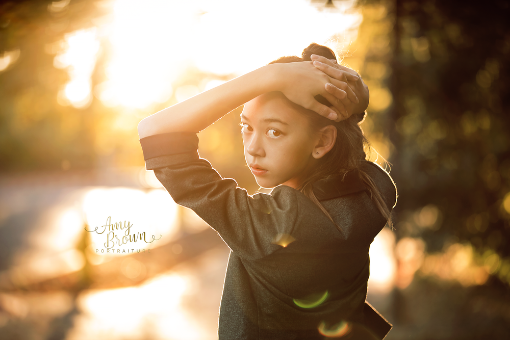 golden hour fall color portrait red bluff child photographer