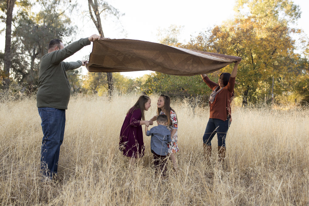 family session with quilt red bluff, ca