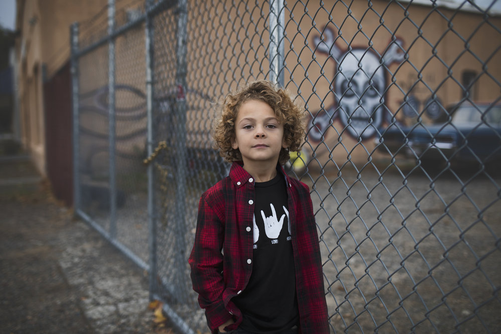 boy portrait urban child red bluff photographer