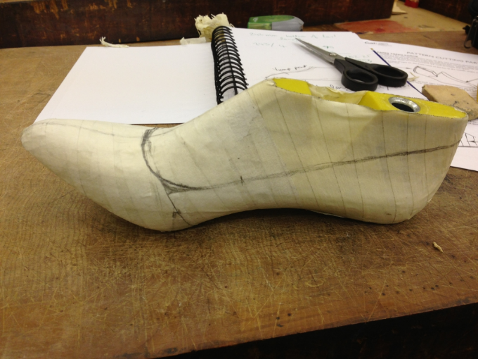 Pattern making custom made shoes
