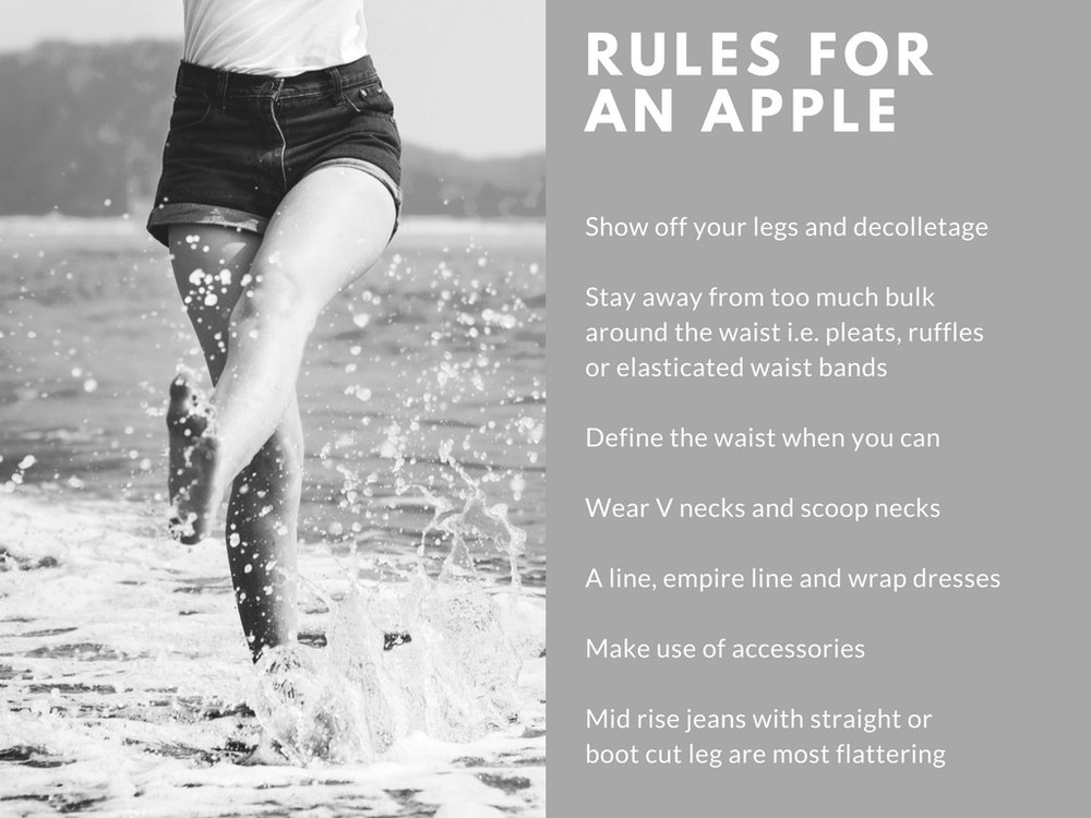 Rules for an apple body shape