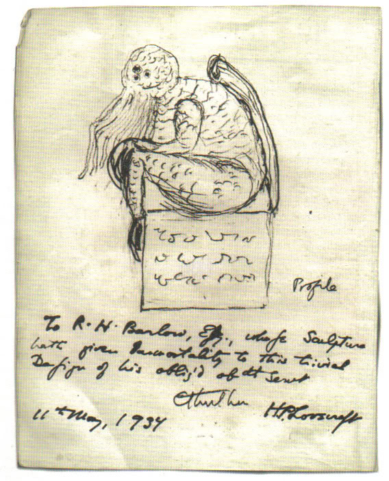 Sketch of Cthulhu by H.P. Lovecraft