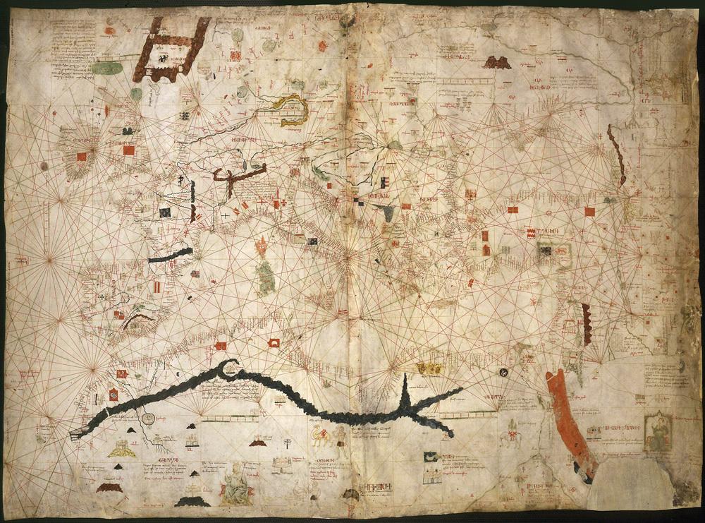 Angelino Dulcert's portolan chart 1339