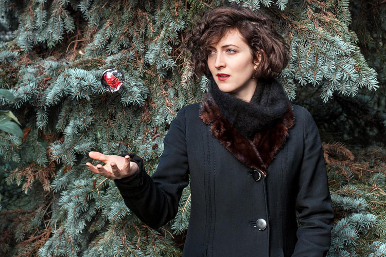 Eve Risser et l'esprit de Noël.