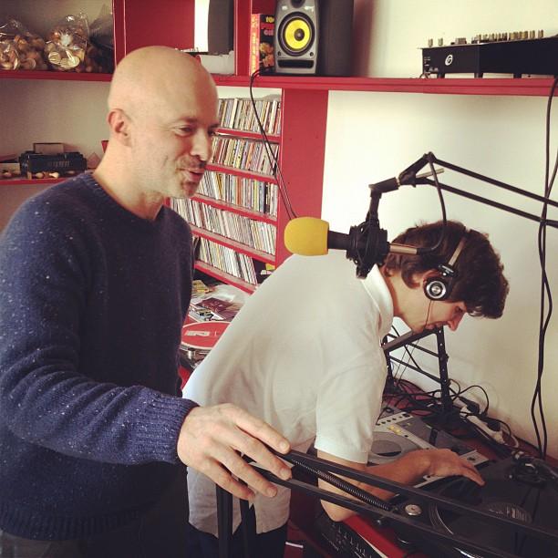 Antoine Rajon et Franck Descollonges, les maitres à penser du label Heavenly-Sweetness lors de leur émission sur la web radio, Le Mellotron.