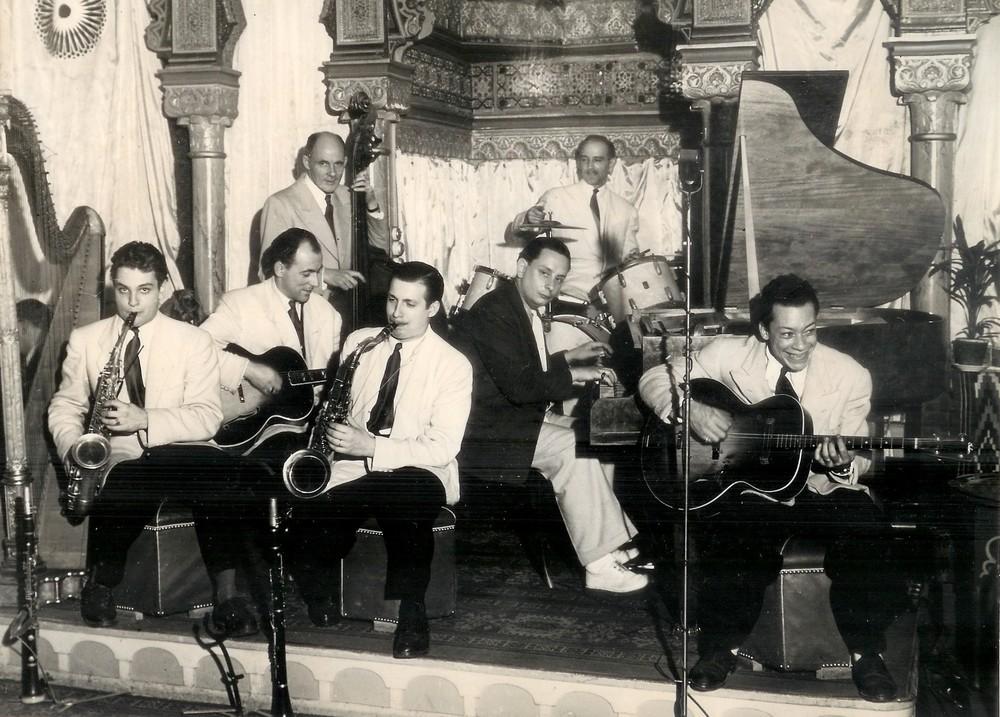 Henri Salvador, tout à droite.