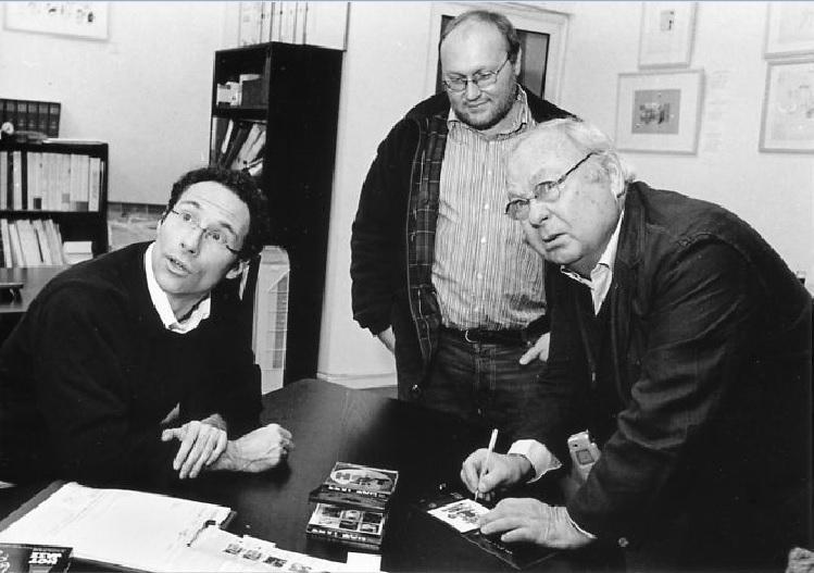 Le dessinateur Siné avec Patrick Frémeaux