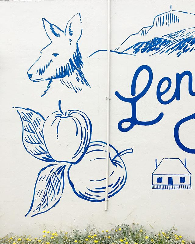 Lenah Valley used to be covered in orchards #lenahvalley #inthisplace #lenahvalley #publicart