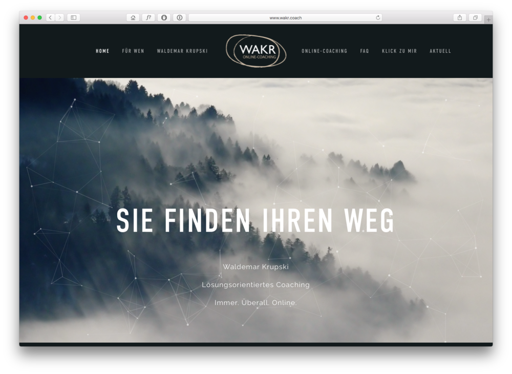 GRAFIK / DESIGN Website / WAKR Online-Coaching