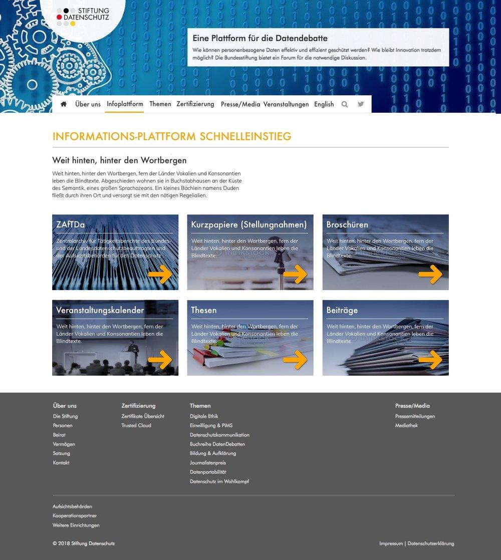 GRAFIK / DESIGN Website /Stiftung Datenschutz