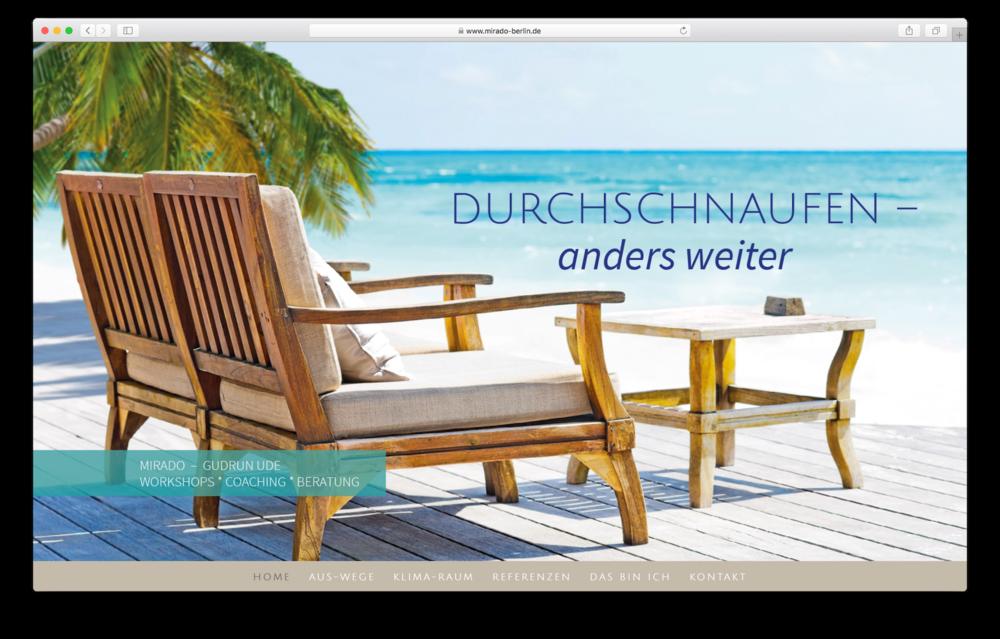 GRAFIK / DESIGN Website / MIRADO Berlin