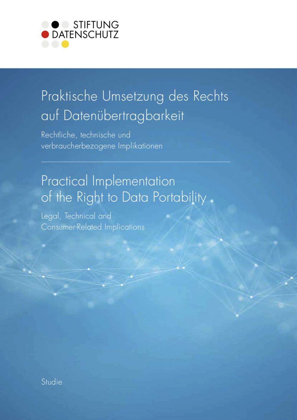 GRAFIK / DESIGN &TEXTE / REDAKTION Studie Datenportabilität | Stiftung Datenschutz