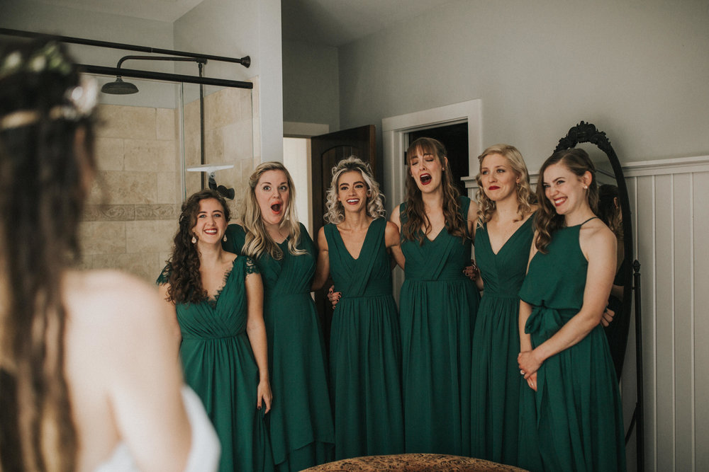 Bridesmaids Reaction in Nashville, Tennessee