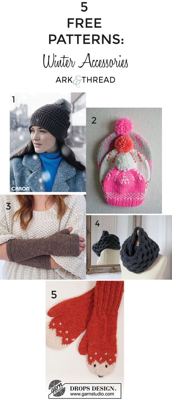 5 Free Patterns: Winter Accessoreies // Ark +Thread