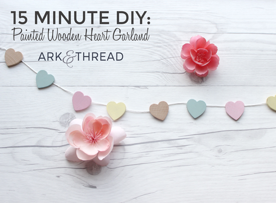 Painted Wooden Heart Garland // Ark + Thread