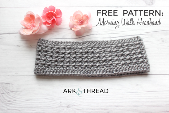 Free Crochet Pattern Morning Walk Headband Ark Thread