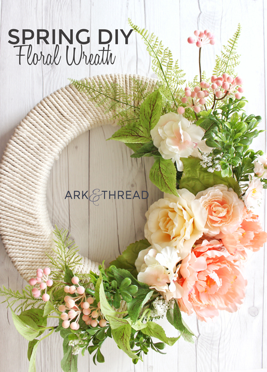 Diy Floral Spring Wreath Ark Thread