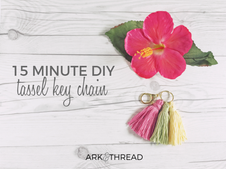 Ark + Thread 15 minute DIY tassel Key chain
