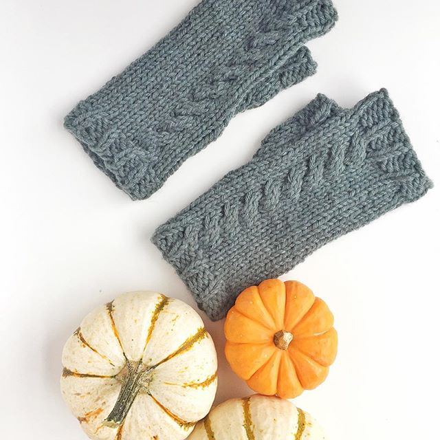 Yay for fall birthdays!! 🍁 These were a present for my sister and I finally was able to give them to her this past weekend 🍂. . Yarn: mYak Baby Yak Chunky.  Pattern: Friday Harbor Mitts by  @1farm_girl on Ravelry.  #craftsposure #knittersofinstagram #knitlove #creativelifehappylife #craftcolourmyday #abmlifeisbeautiful #abmcrafty #wipsandblooms #fibrespacefo #yarnlove #knittingaddict #craftastherapy