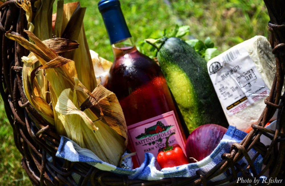 """Cold Sweet Rose Wine, Tangy Feta, Roasted Veggies and Warm Sun-Perfection"""