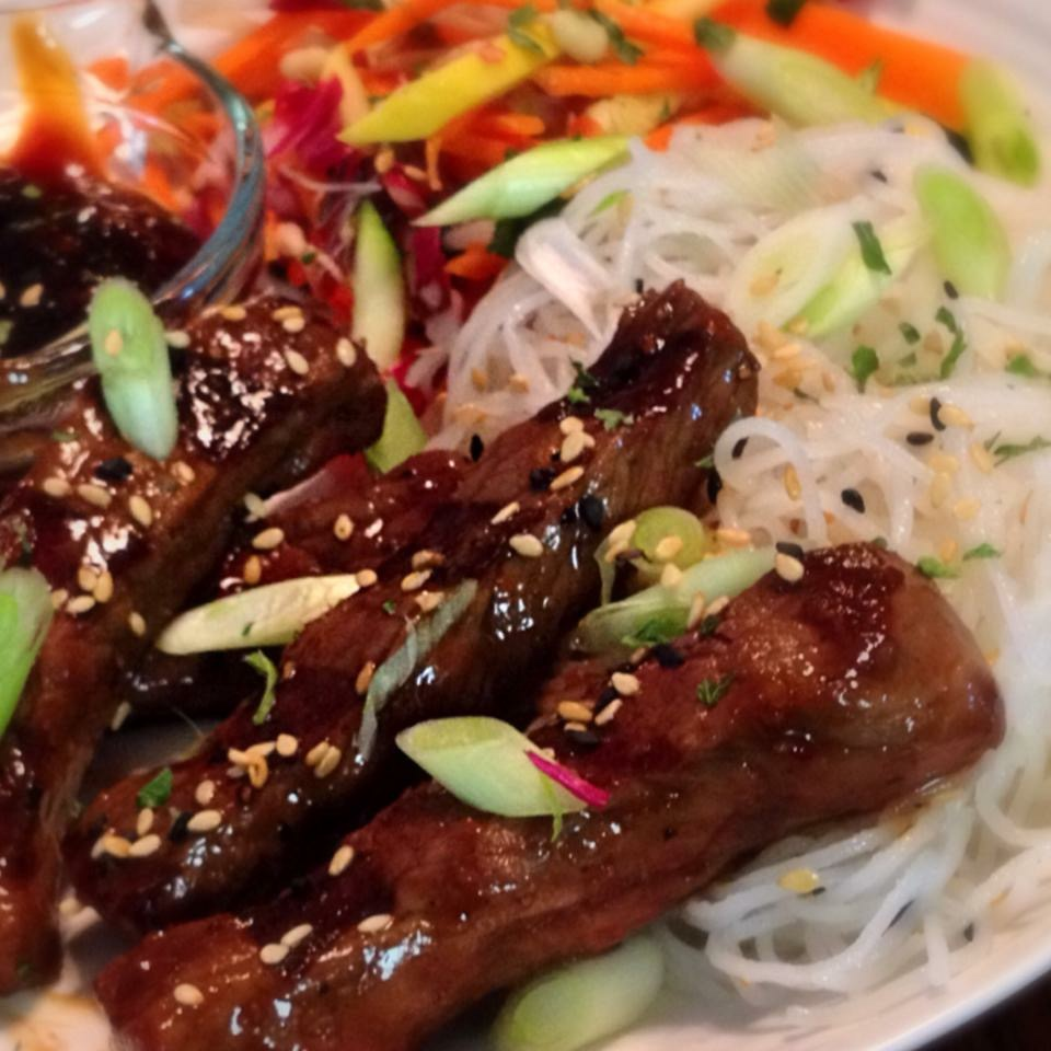 """Beef Bulgogi with Pickled Veggies"""