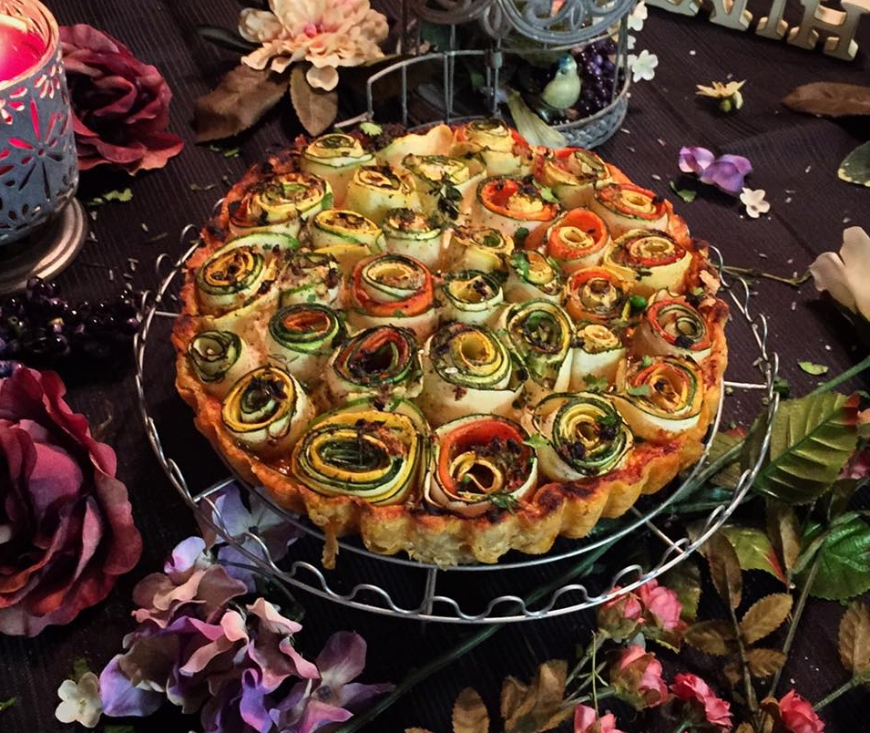 """Vegetable Rose Tart"""