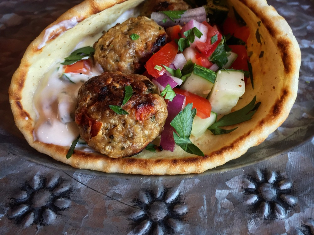 """Greek Meatball Gyro"""