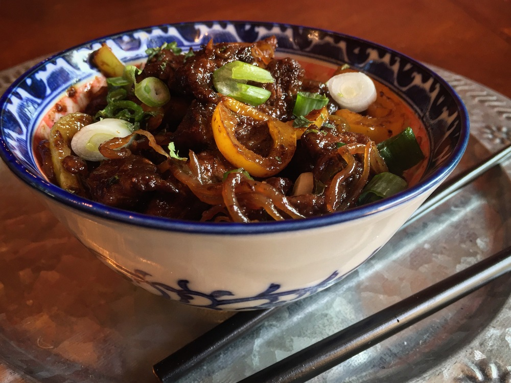 """Healthy Mongolian Beef with Ramen Substitute"""
