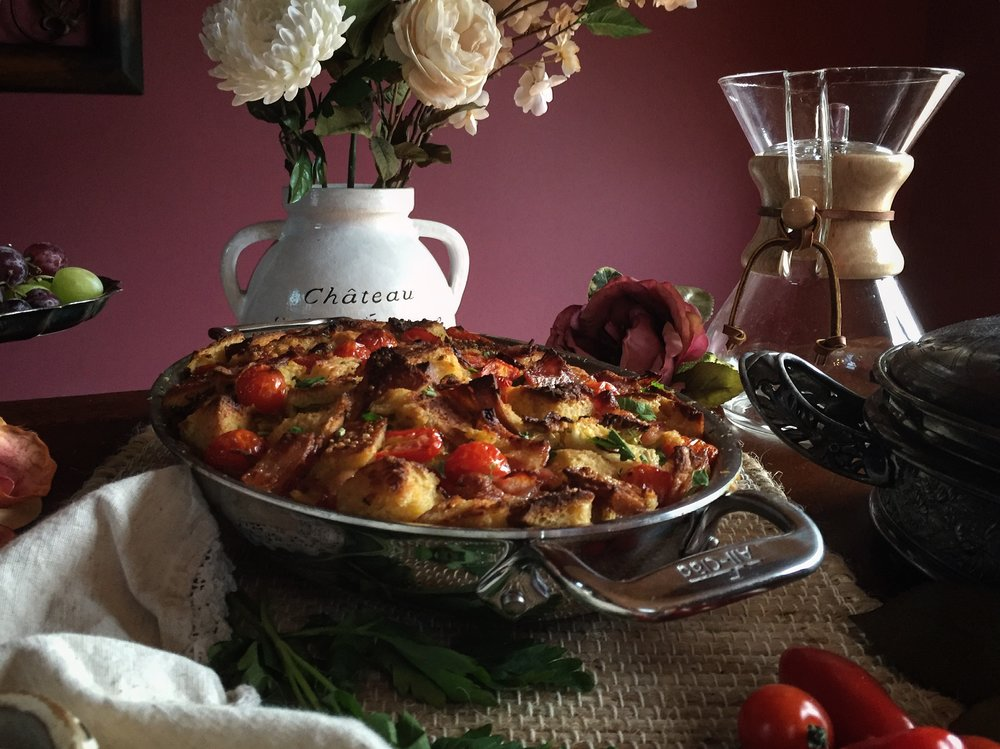 """Sourdough BLT Casserole"""