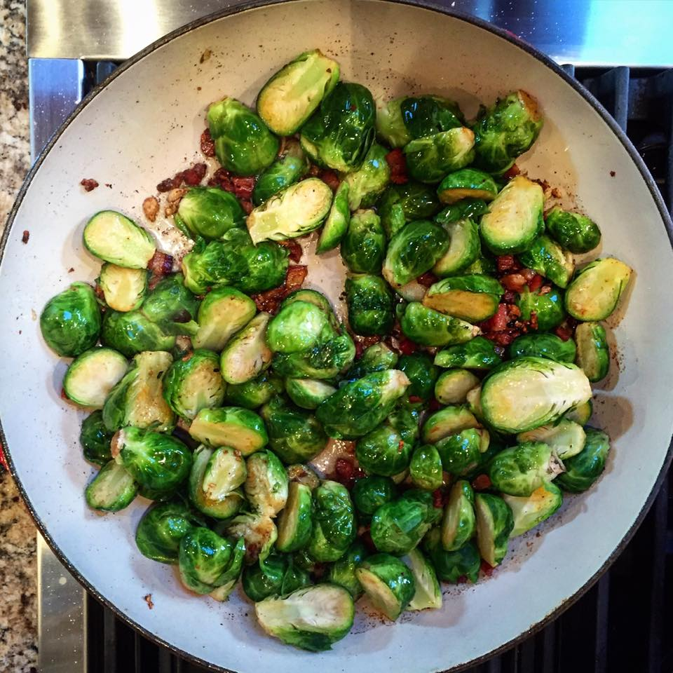 """Pan Roasted Brussels Sprouts"""