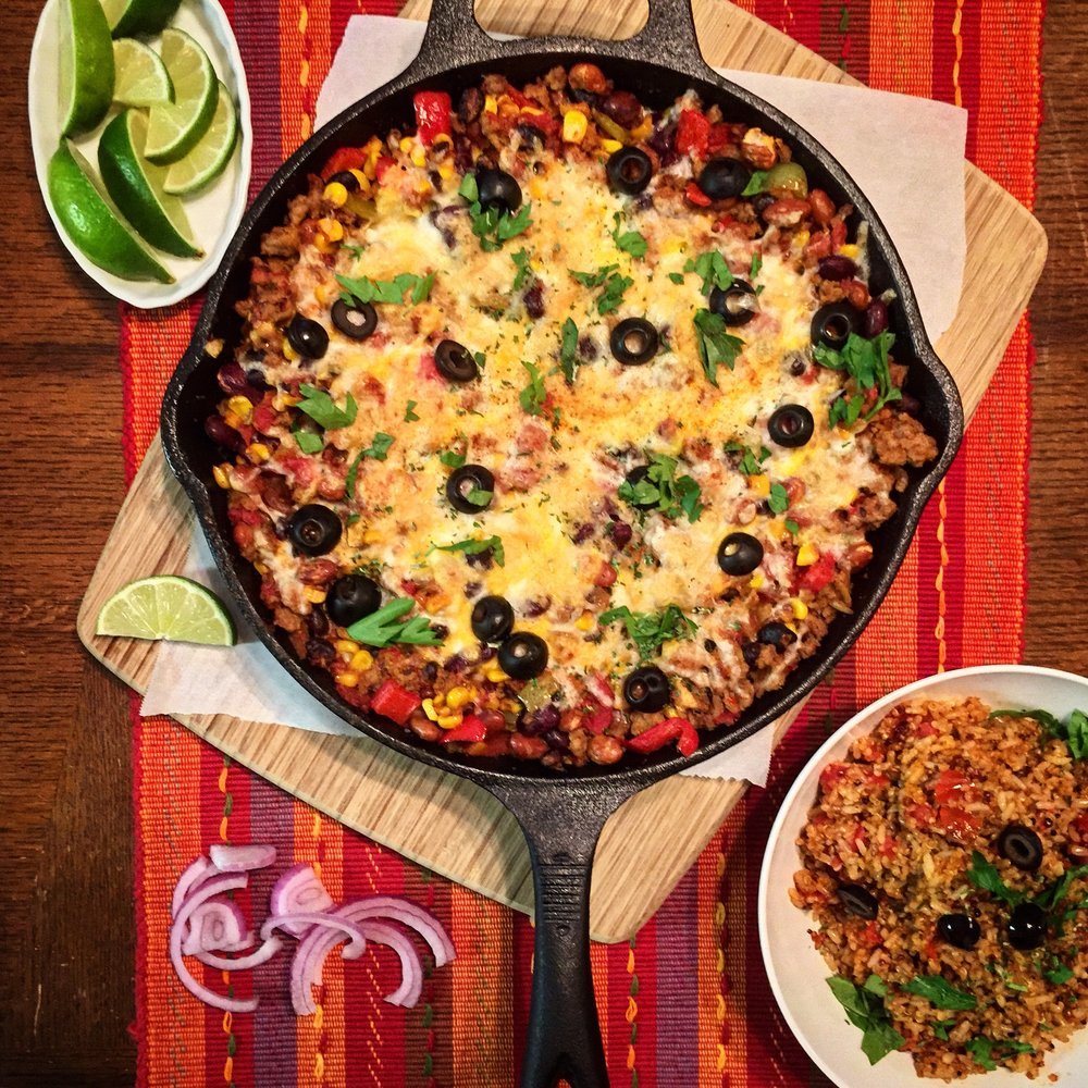 """Mexican Skillet Dinner"" with ""Spanish Rice"""