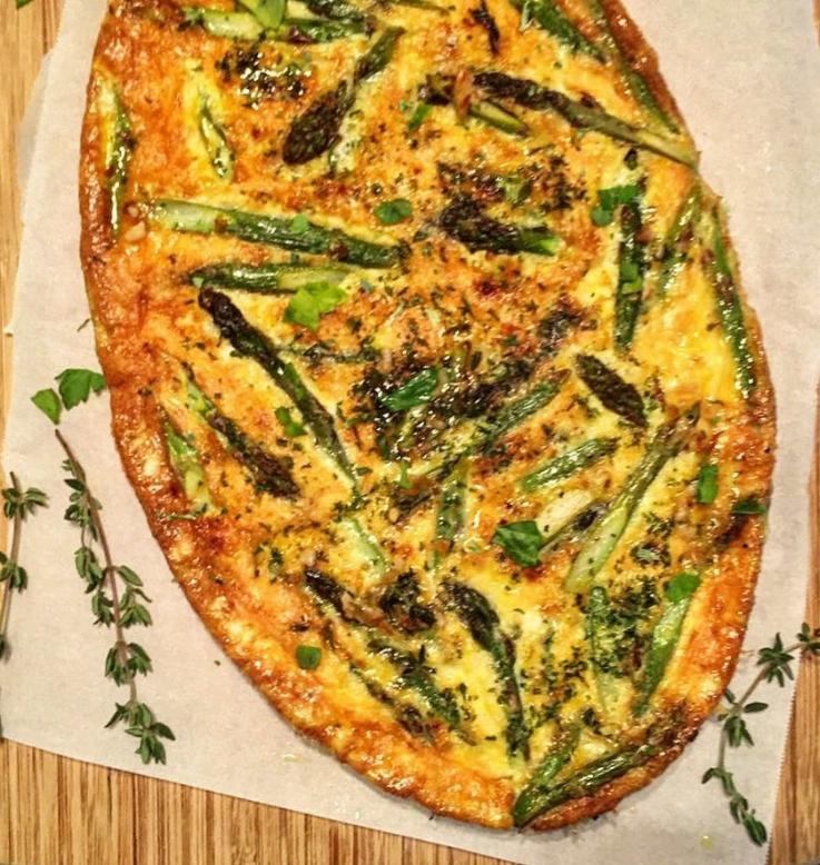 """""""Asparagus Cheese &Herb Frittata"""""""