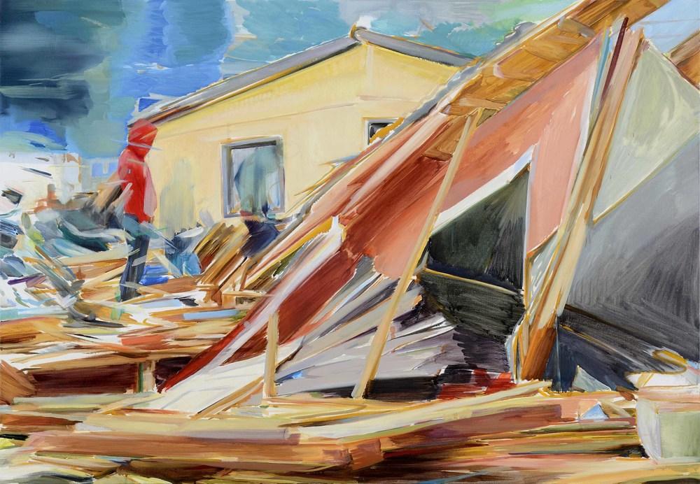 Open , 2013, oil on canvas, 130x89cm