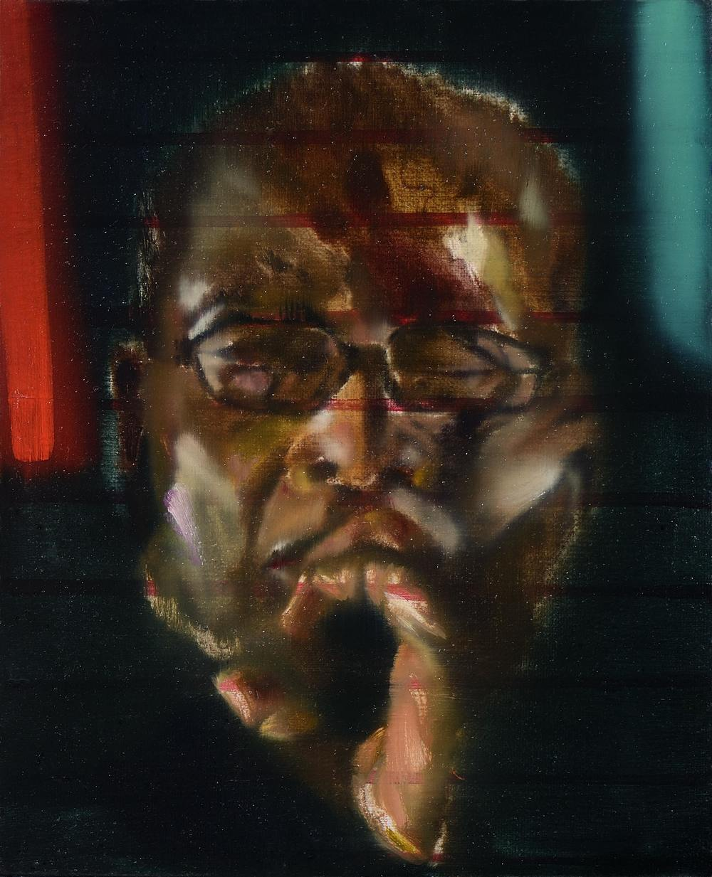 Petit Mugabe 1 , 2012, oil on canvas, 27 x 27cm. Private collection, France
