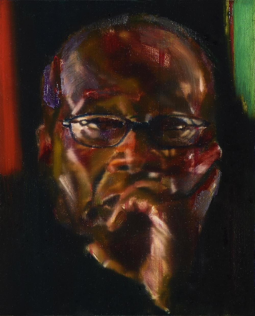Petit Mugabe 2 , 2012, oil on canvas, 27 x 22cm