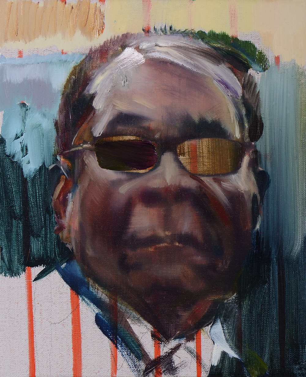 Petit Mugabe 3 , 2012, oil on canvas, 27 x 27cm. Private collection, France