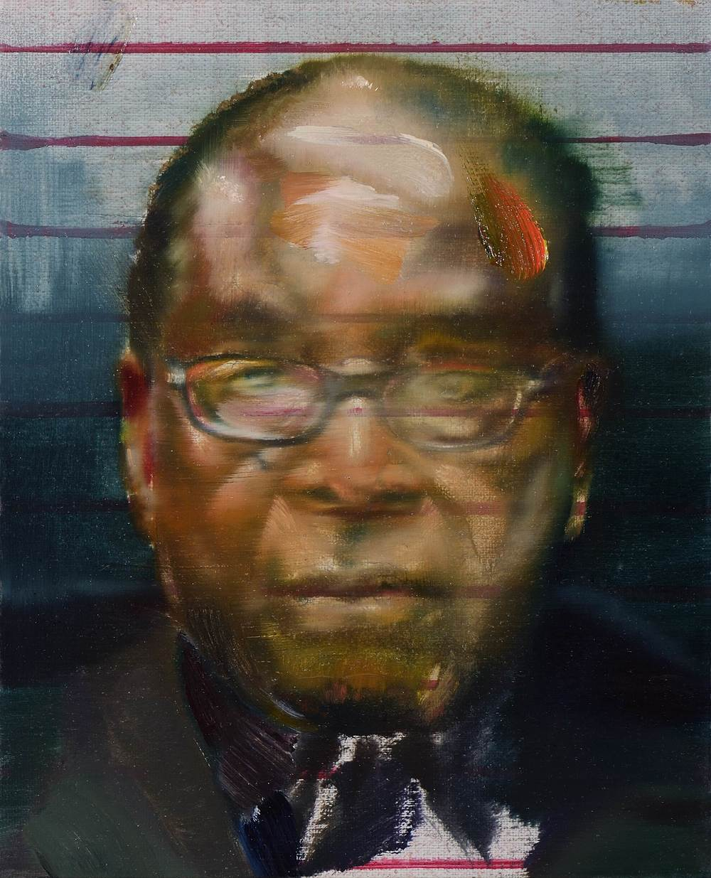 Petit Mugabe 4 , 2012, oil on canvas, 27 x 27cm. Private collection, France