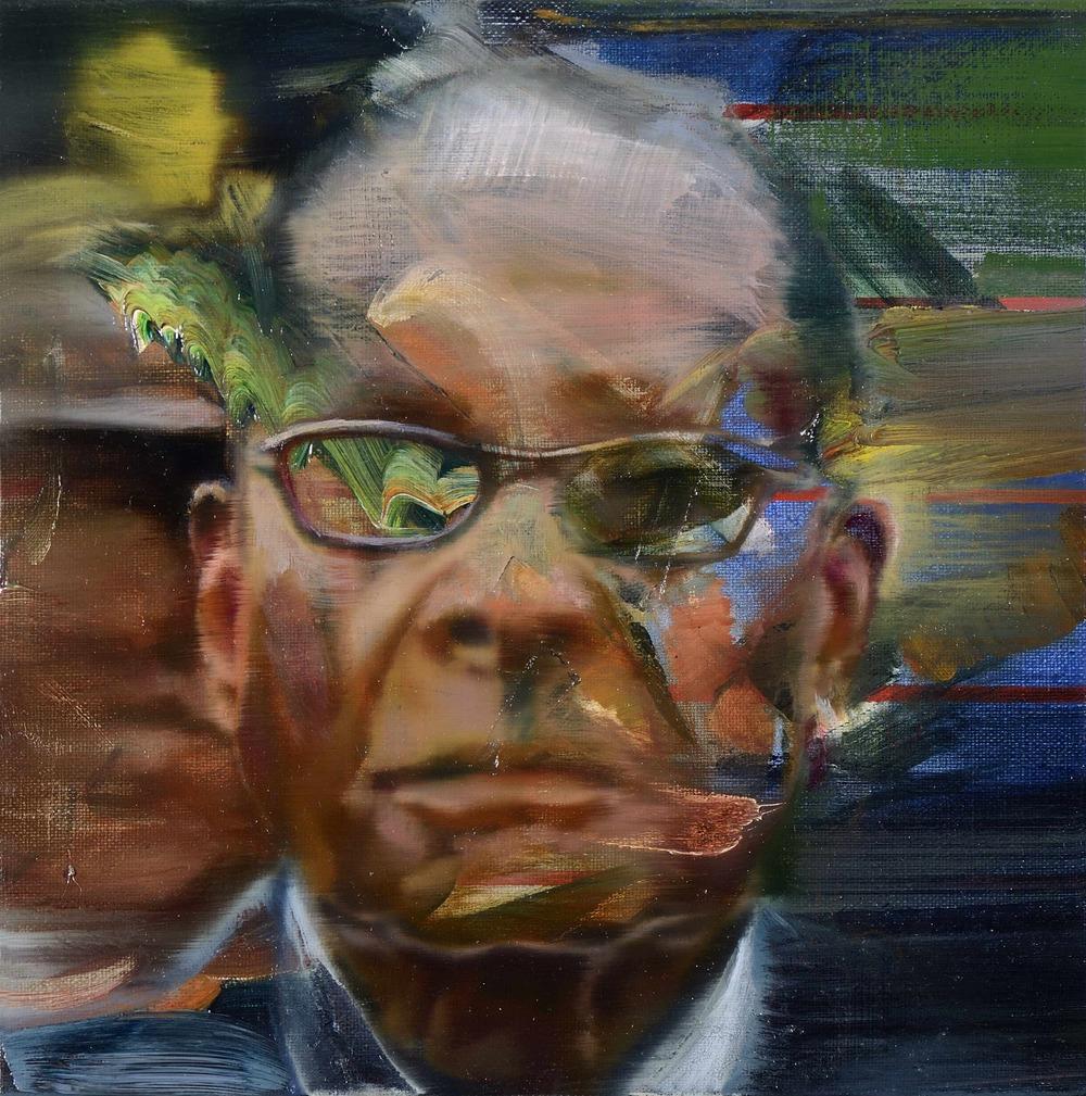 Petit Mugabe , 2012, oil on canvas, 27 x 27cm