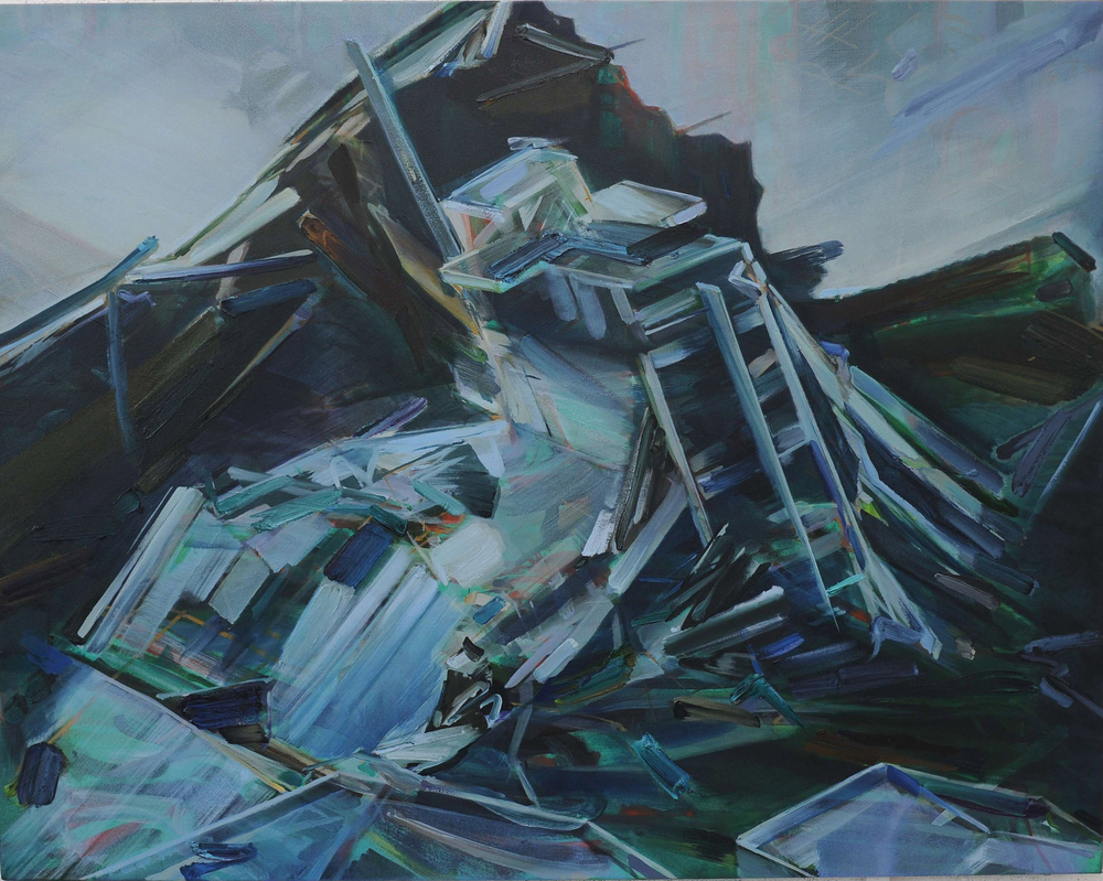 Concrete Wave , 2011, oil on canvas, 114 x 145cm. Private collection, France