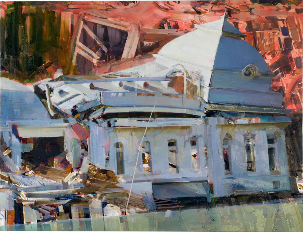 State House , 2010, oil and spraypaint on canvas, 183 x 240cm. Pritzker Collection, USA