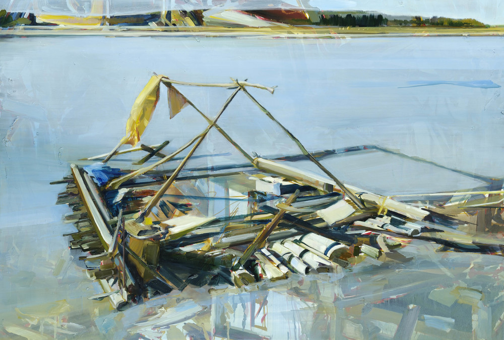 Untitled (Mobile Home) , 2010, oil on canvas, 136 x 200cm. Salomon Foundation Collection, France