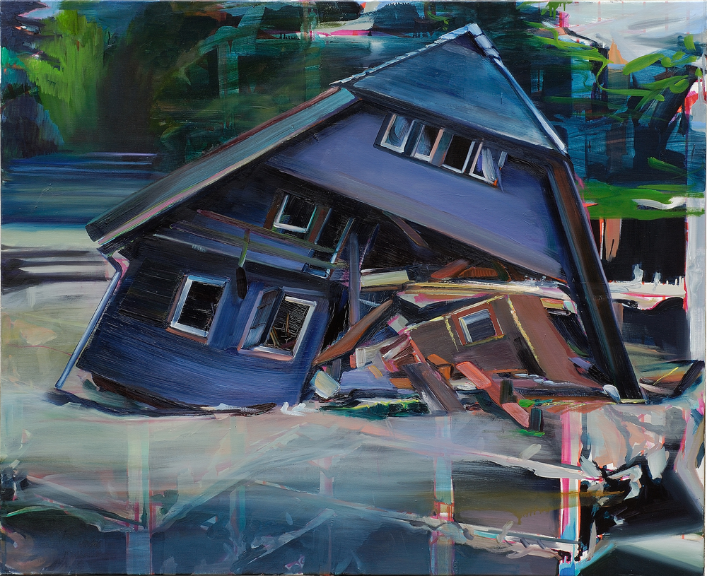 Night house , 2007, oil on canvas, 135 x 160cm. Private collection, France