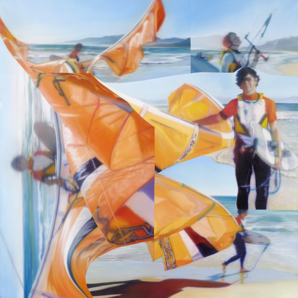 Untitled (Emerging Gallerist) , 2005, oil on canvas, 150 x 150 cm. Private collection, France