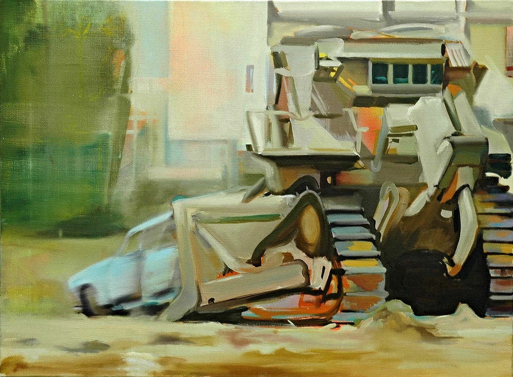 Mobile home , 2006, oil on canvas, 54 x 73cm. Private collection, France