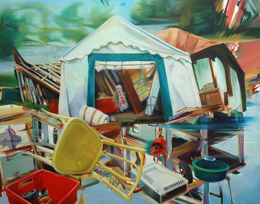 Untitled , 2008, oil on canvas, 183 x 235cm. Fondation Gaz de France/Emmaüs Collection, France