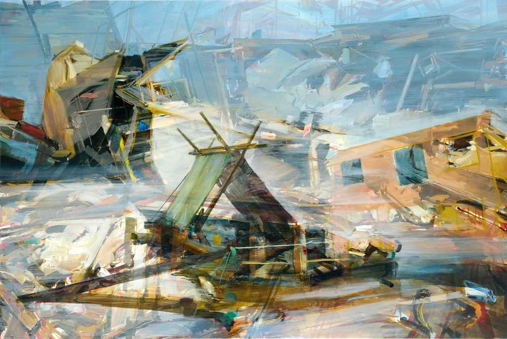 Untitled (mobile home) , 2011, oil on canvas, 135 x 200cm. Private collection ,  France