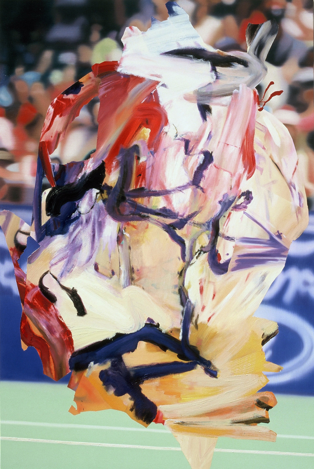 Match Point , 2002, oil on canvas, 195 x 130cm. Private collection, USA