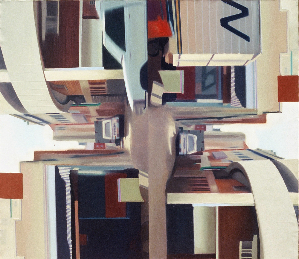 Untitled (2nd street, Harare) , 2001, oil on canvas, 150 x 160cm.  Collection Guerlain, France